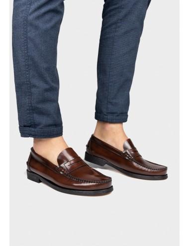 Zapato de hombre Mocasín Antifaz Piel