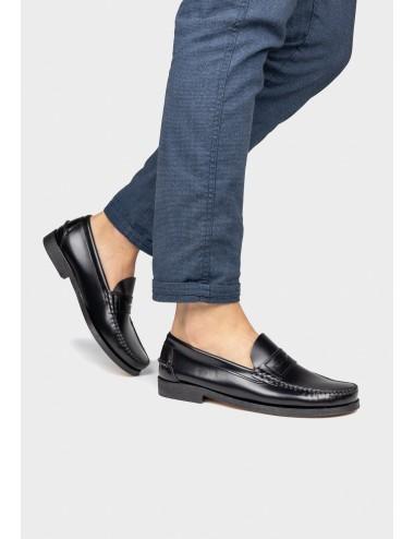Zapato de hombre Mocasín Antifaz de color negro