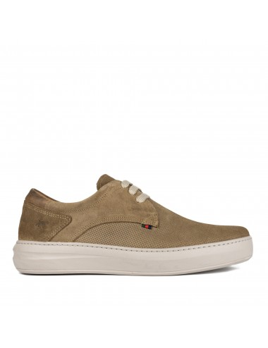 DOTS - SNEAKER PIEL TAUPE
