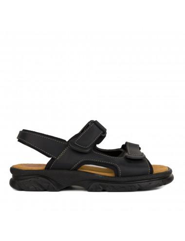 Sandalia de hombre de piel negro