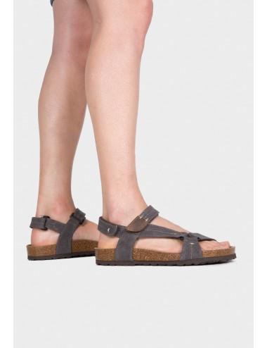 Sandalia para hombre Bio Textil gris