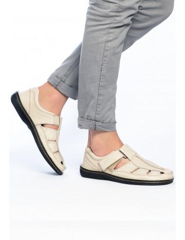 Sandalias de hombre con Punta Cerrada Beige