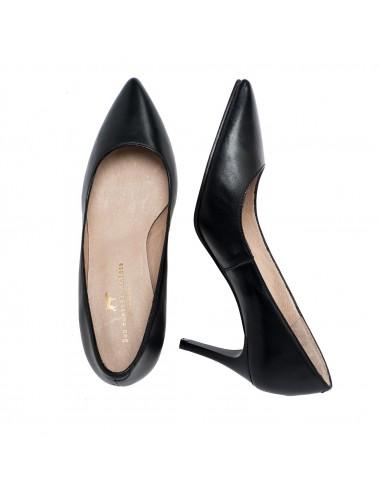 Zapatos de Salón de Piel Negro