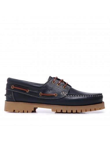 Zapatos Náuticos de Piel Napa Marino