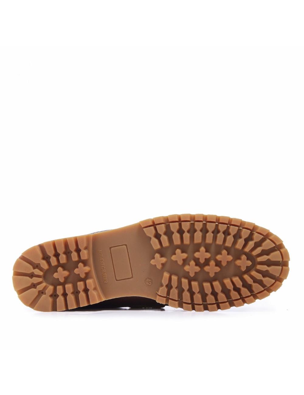 Zapatos Náuticos de Piel Napa Marrón