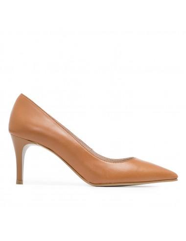 Zapatos de Salón de Piel Marrón