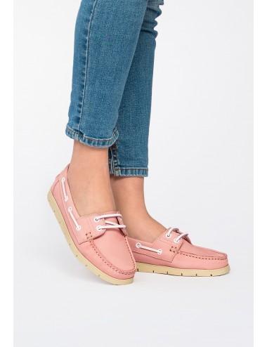 Zapato Náutico Clásico de piel Rosa